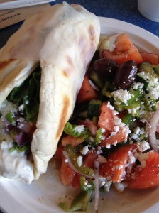 Gyro Sandwich at Opa!