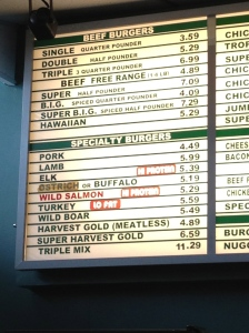 Burger Inn menu
