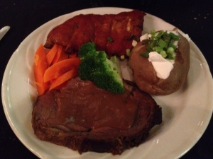 Prime Rib and Pork Ribs Dinner